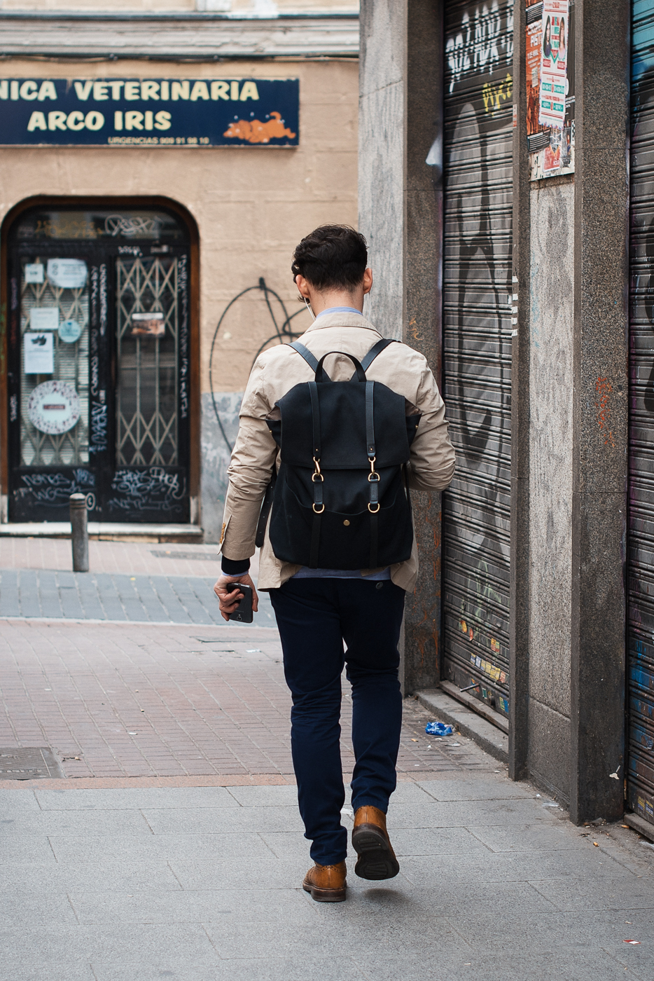 Back pack.  Similar look:   Sandqvist Hege Backpack  .