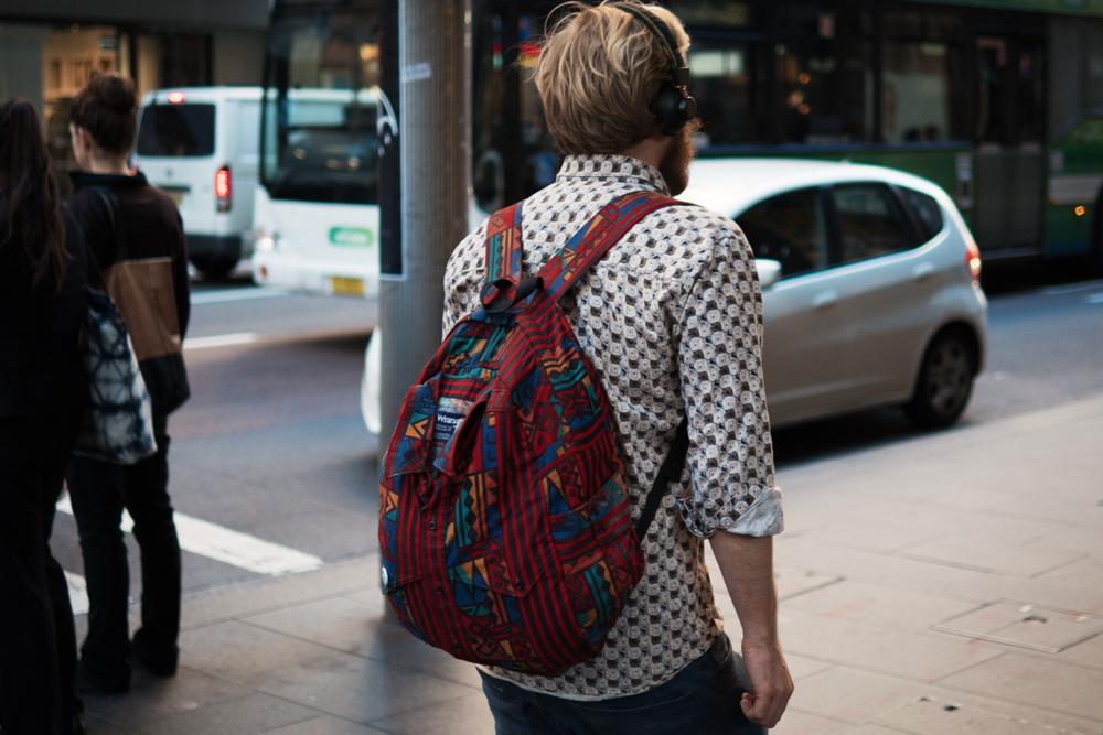 Pattern play.  Similar look:   Herschel Supply Co Backpack  .  — Get    MITT    magazine issue 2 at    The MITT Mrkt   .