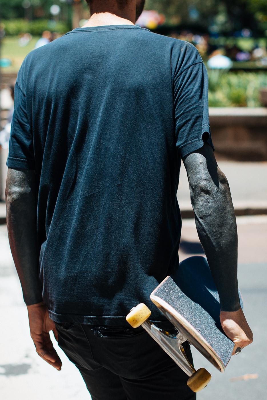 Black sleeves.