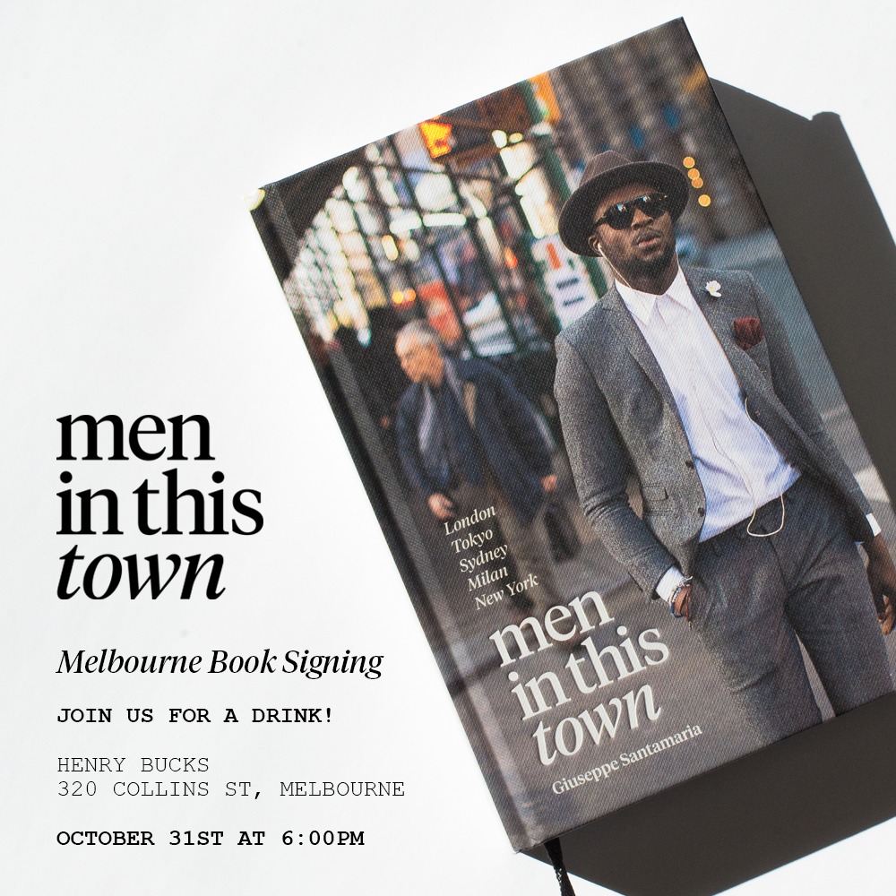 MELBOURNE BOOK SIGNING    If you're in Melbourne, join me next Friday for a drink at  Henry Bucks  to celebrate the spring racing season. I'll be signing copies of the  Men In This Town  book and there will be drinks for the thirsty.