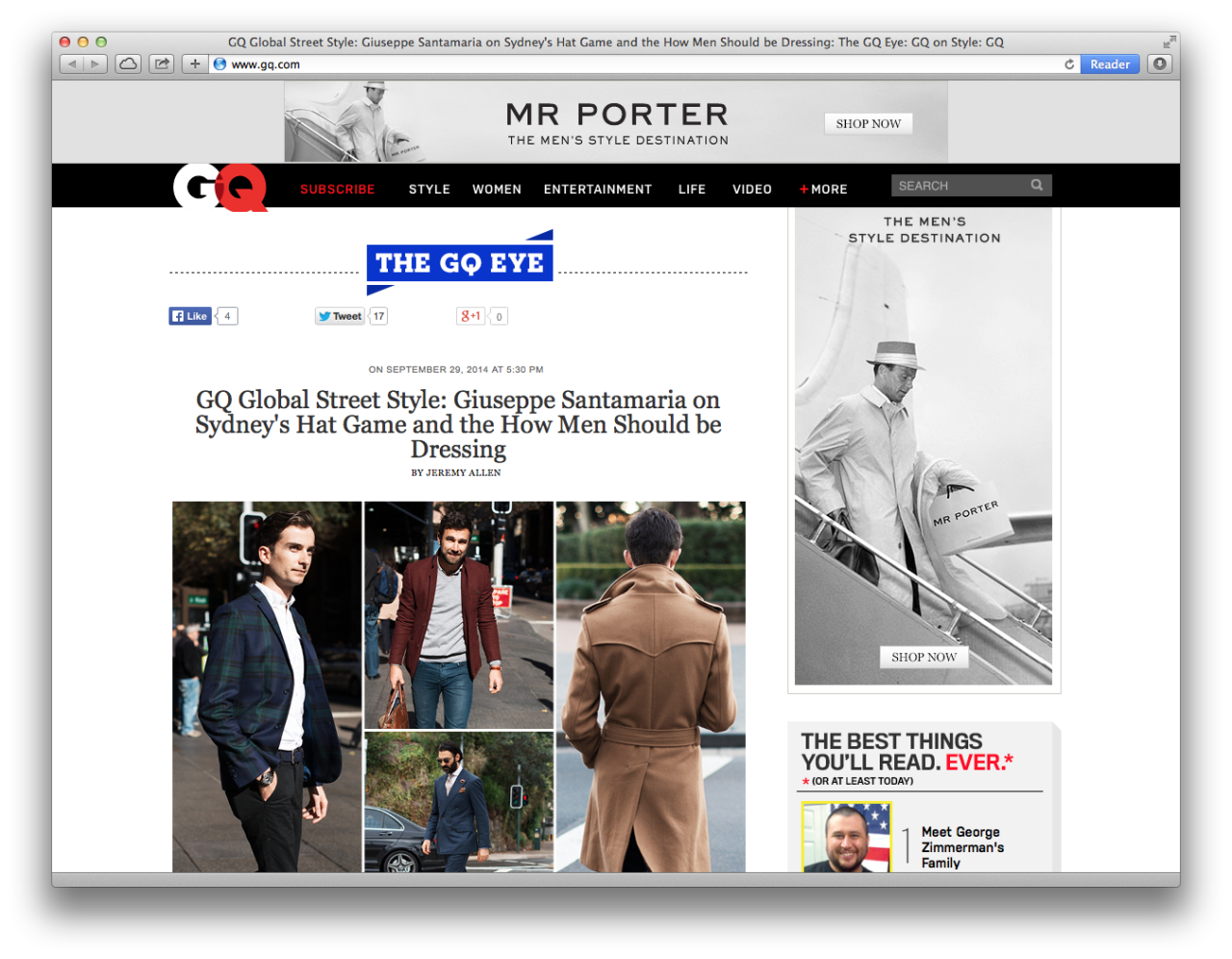 Thrilled to be featured on  GQ.com  today. Check out the interview by  clicking here .