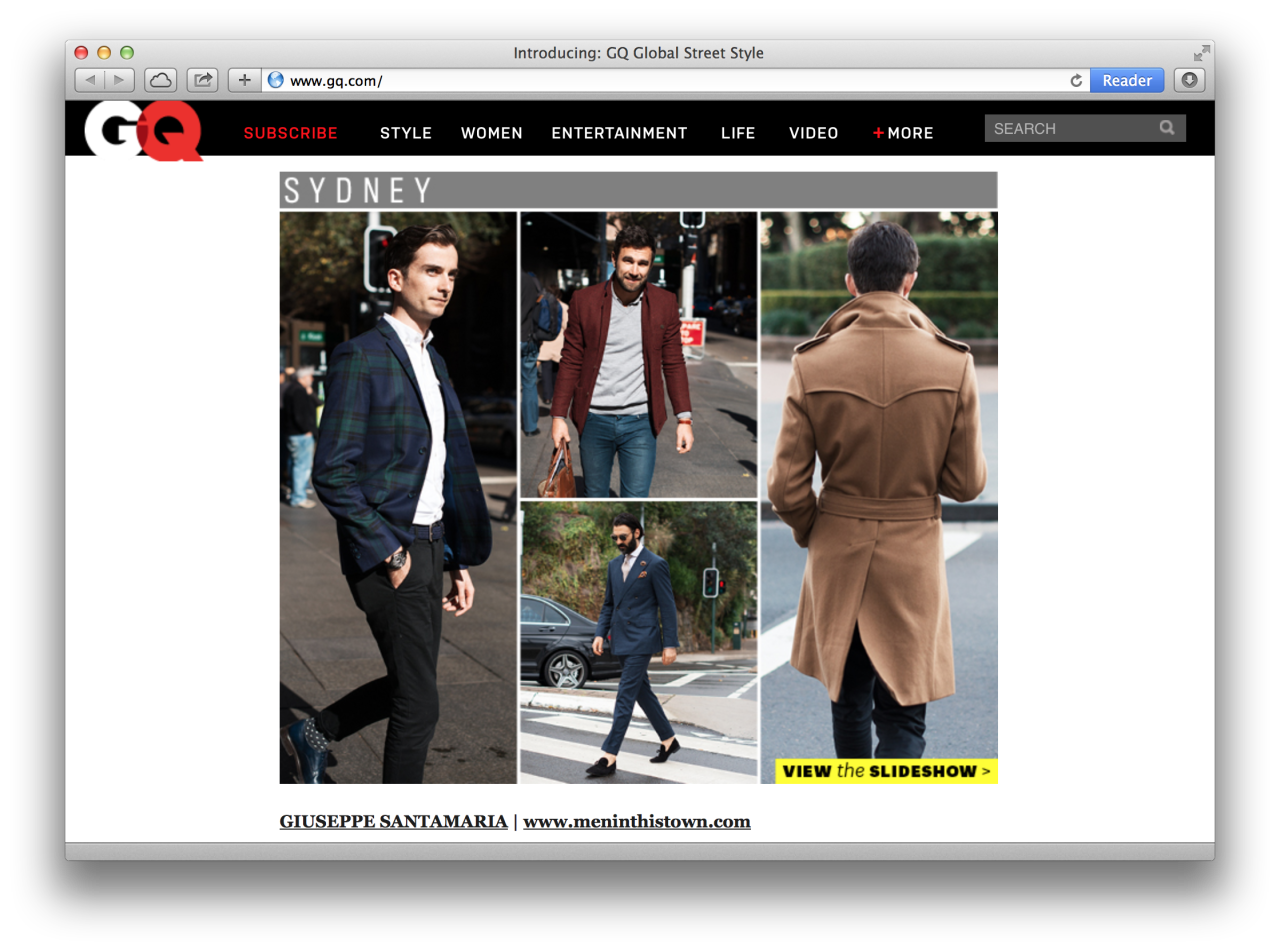 Excited to have my Sydney street style shots as part of   GQ's Global Street Style   feature.