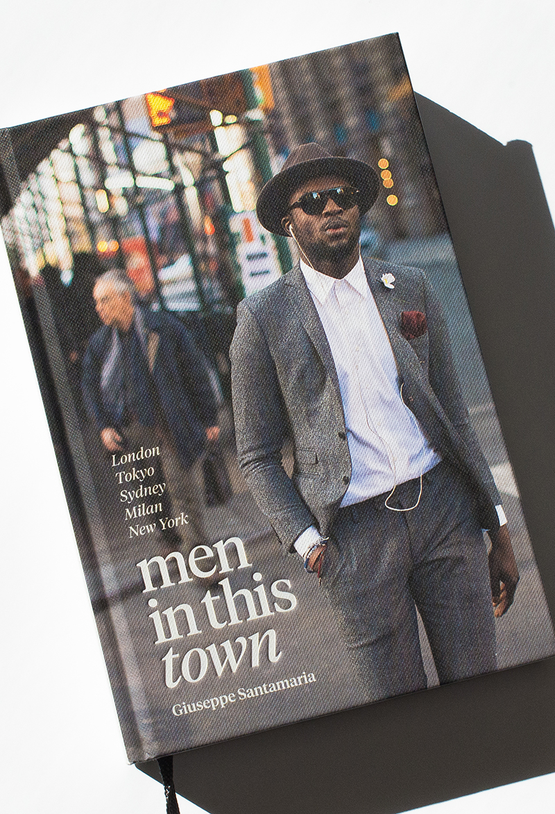 AVAILABLE TODAY WORLDWIDE    Exactly a year ago today I tweeted my soon to be publisher with the idea of a   Men In This Town   book. After several months of flying around the world taking pictures and countless hours bringing it all together, my book is now available in bookstores worldwide and    online   .   The book is a collection of my favourite street style photos from  London ,  Tokyo ,  Sydney ,  Milan  and  New York  with about three quarters of the photos never posted online. It also includes five profiles with inspiring men around the world, including  Patrick Johnson ,  Alessandro Squarzi ,  Dan Rookwood ,  Taisuke Nakamuro  and  Jeffrey Costello  and  Robert Tagliapietra .   If you're a fan of the blog, I hope you'll be a fan of the book! Thank you for all your support, it means the world. I hope you enjoy it.   Cheers, Giuseppe