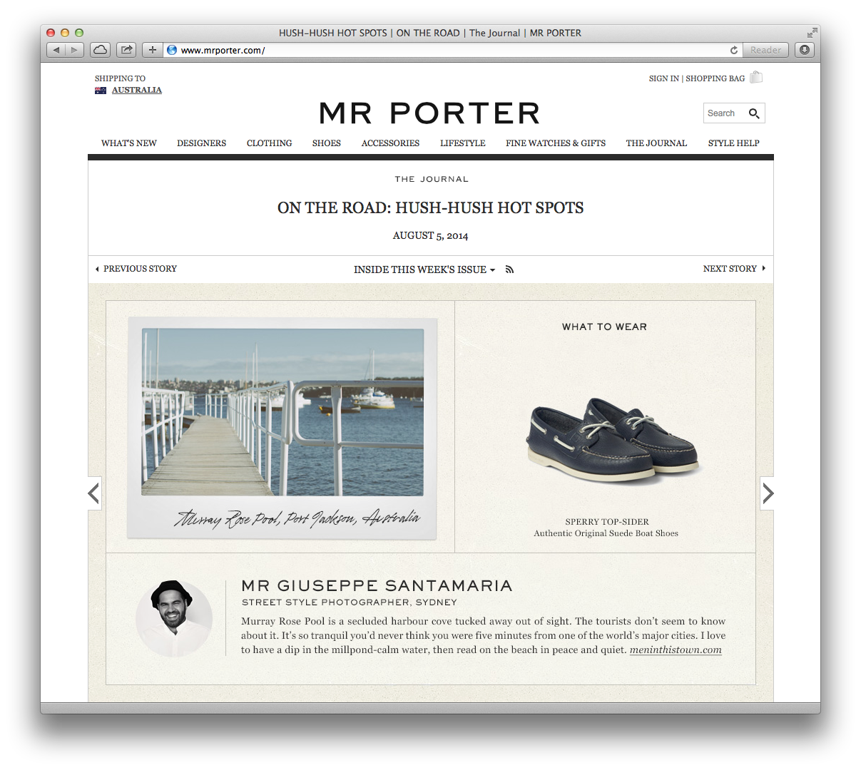 That time my mug appeared on   Mr. Porter  . Great thrill, thanks guys!