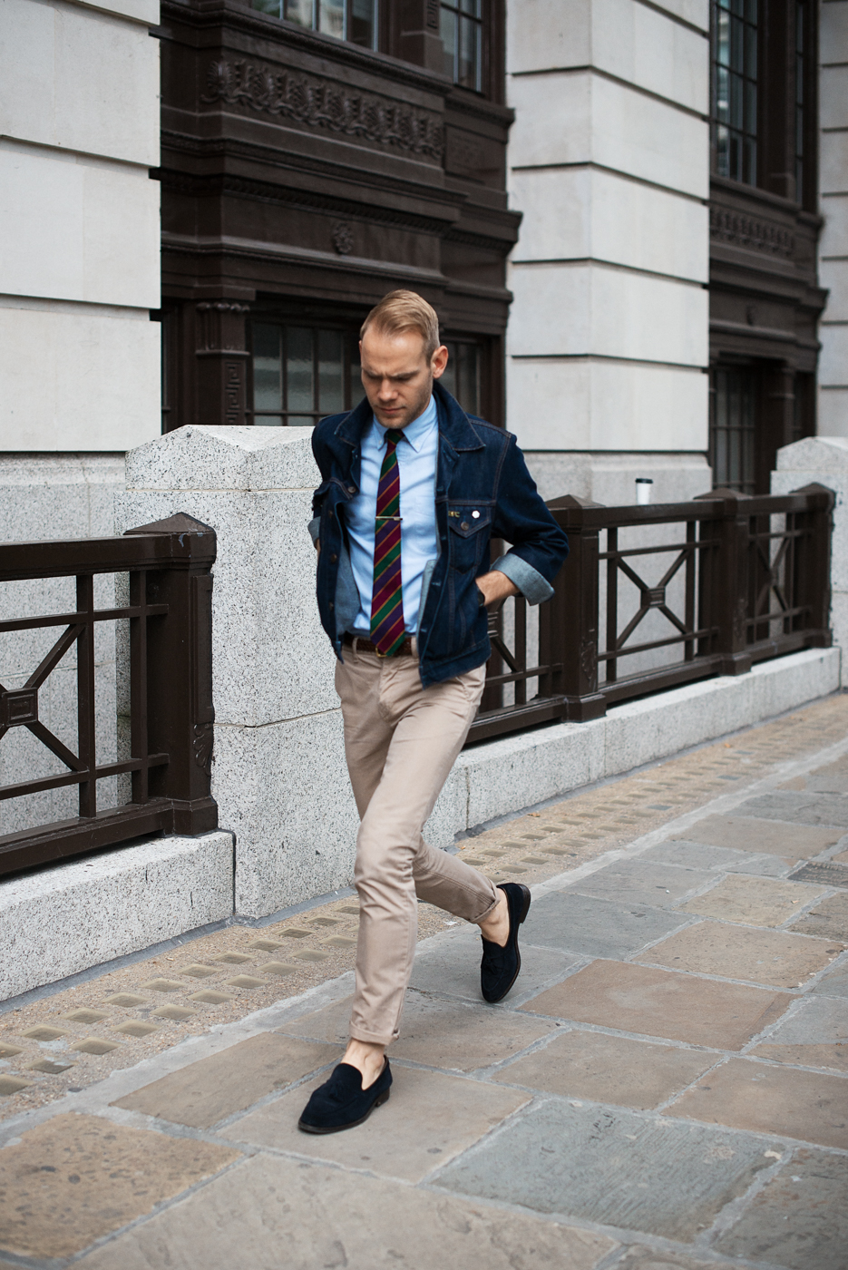 Street smart.  Similar look:  George Cleverley Cashmere Slippers .