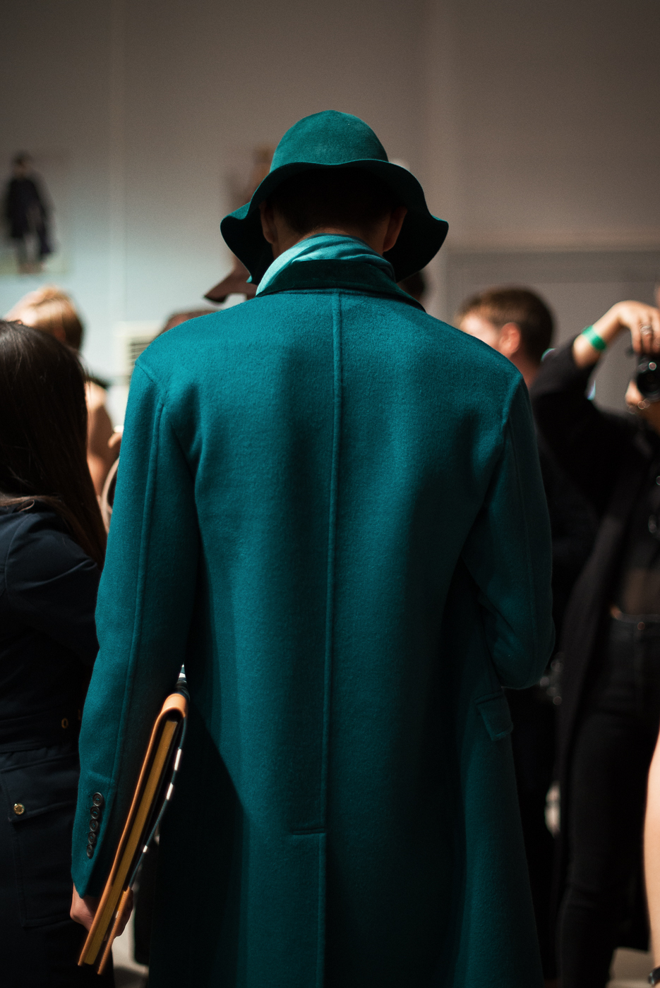 Backstage at  Burberry Prorsum  LC:M.