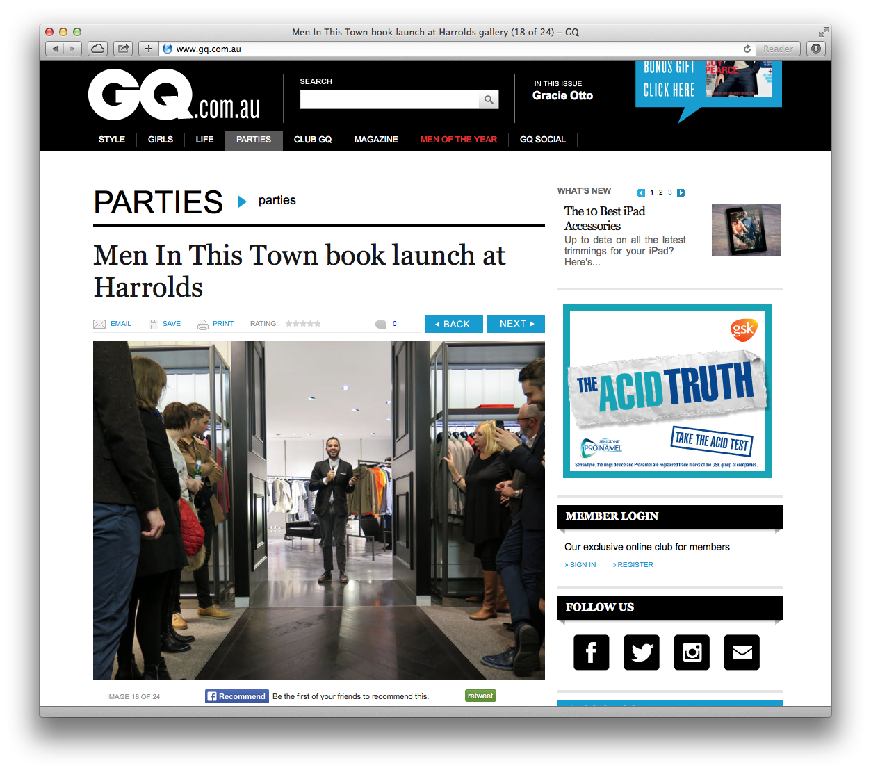 GQ Australia covered my book launch the other night at  Harrolds Sydney store. Could not be more blown away! Click  through to take a look at the night.