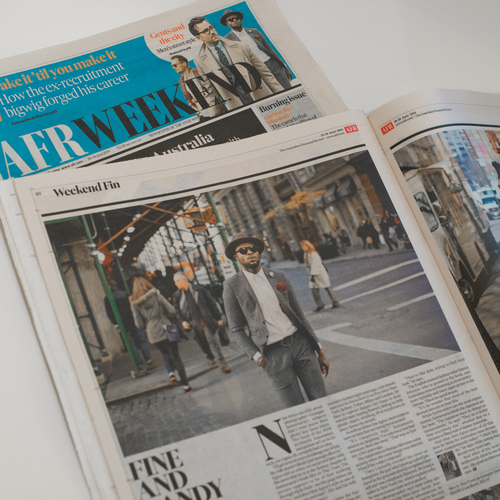 Amazing coverage in  The Australian Financial Review  weekend edition this past Saturday on the  Men In This Town  book. :)