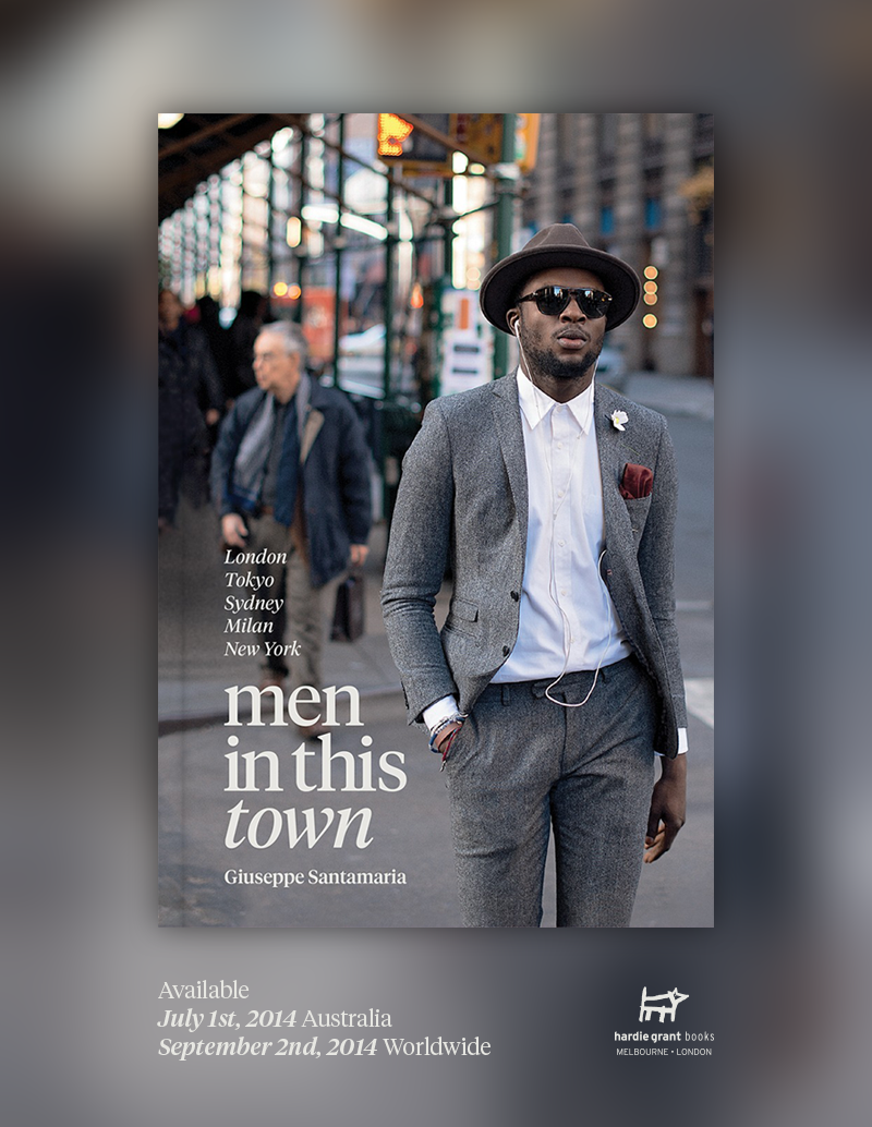 I'm really excited to finally share with you the cover art for the  Men In This Town   book! After countless versions, we narrowed it down to two images and ultimately felt this photo encapsulated what this decade in menswear is all about.     Men In This Town   is now available to pre-order through the links below:    Australia:   Bookworld    United States:   Amazon   ,   Barnes & Noble   ,   IndieBound    United Kingdom:     Amazon    Canada:   Amazon   ,   Indigo     Thank you for all your support and I can't wait for you to see the final result!