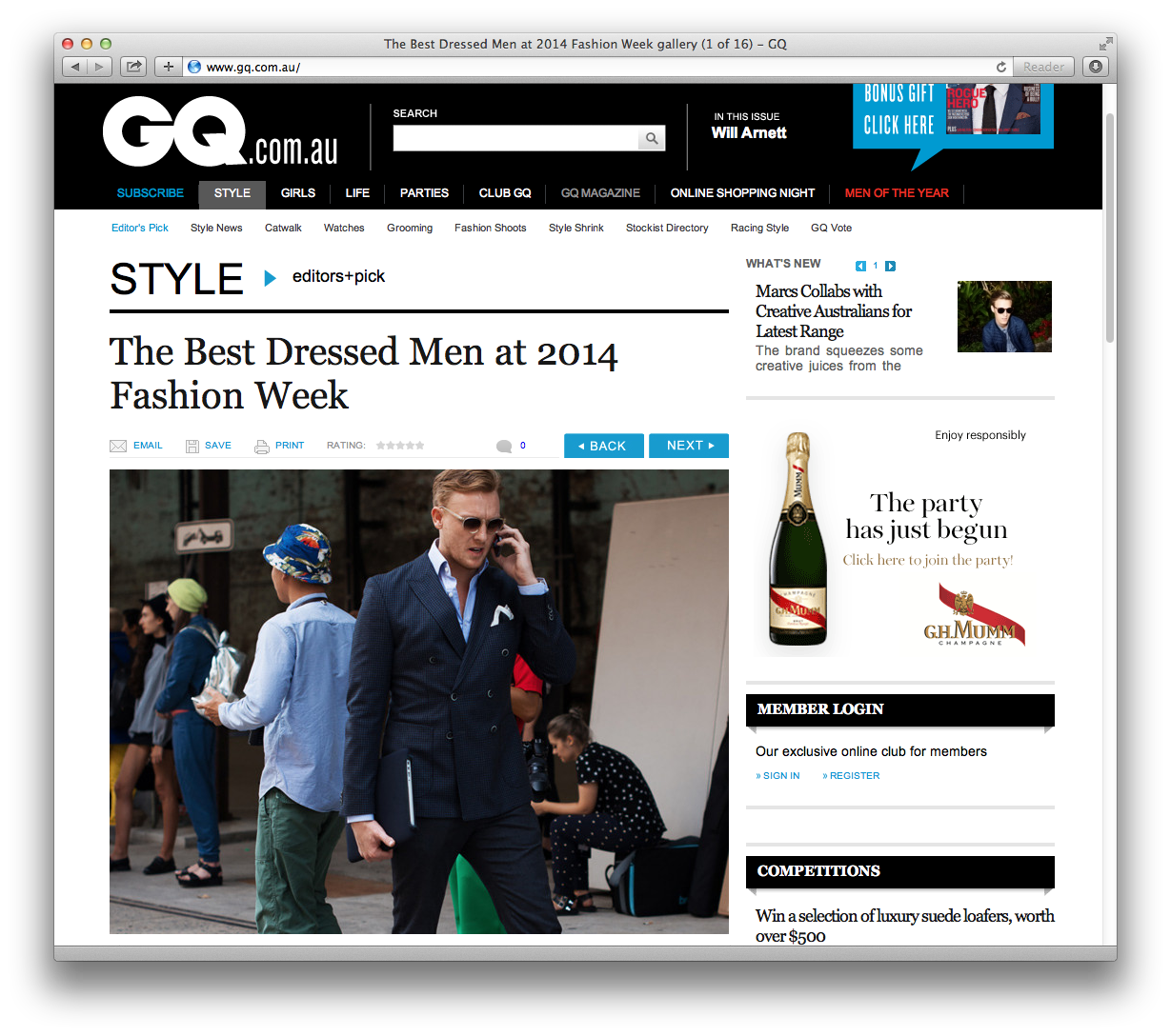 I had the amazing opportunity to shoot  MBFWA  street style last week for  GQ Australia . Check out the results  here .