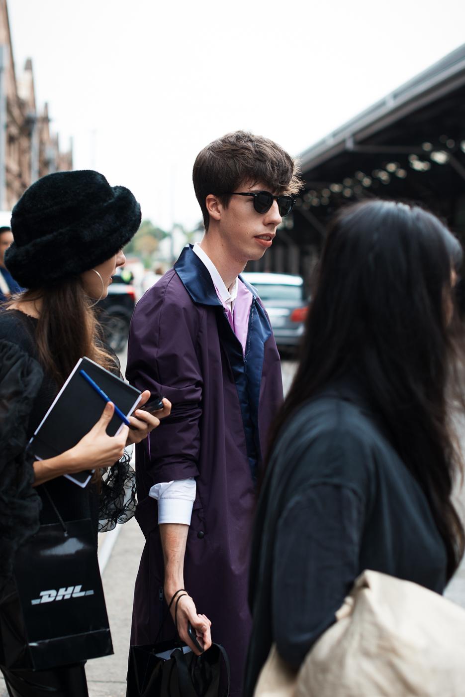 Purple shades.
