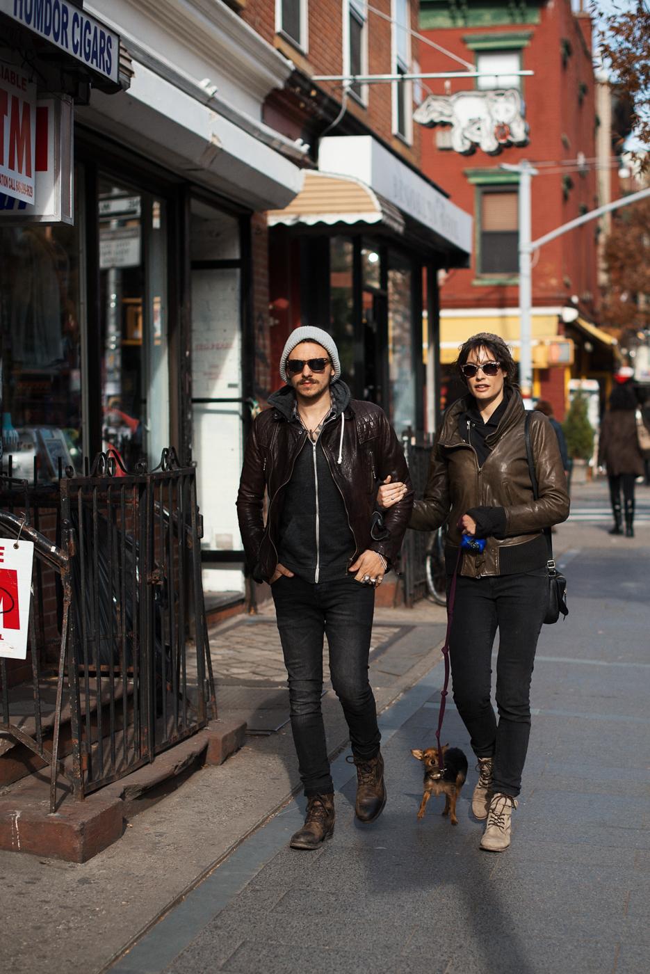 Brooklyn leather.