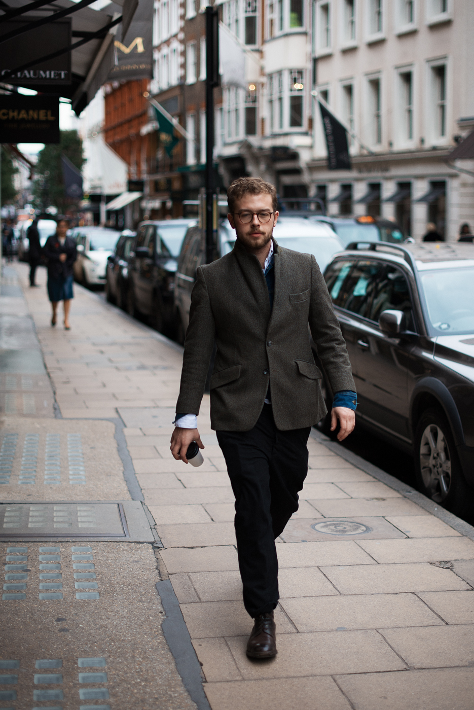 London layers.  Similar look:  ASOS Slim Fit Blazer In Donegal .