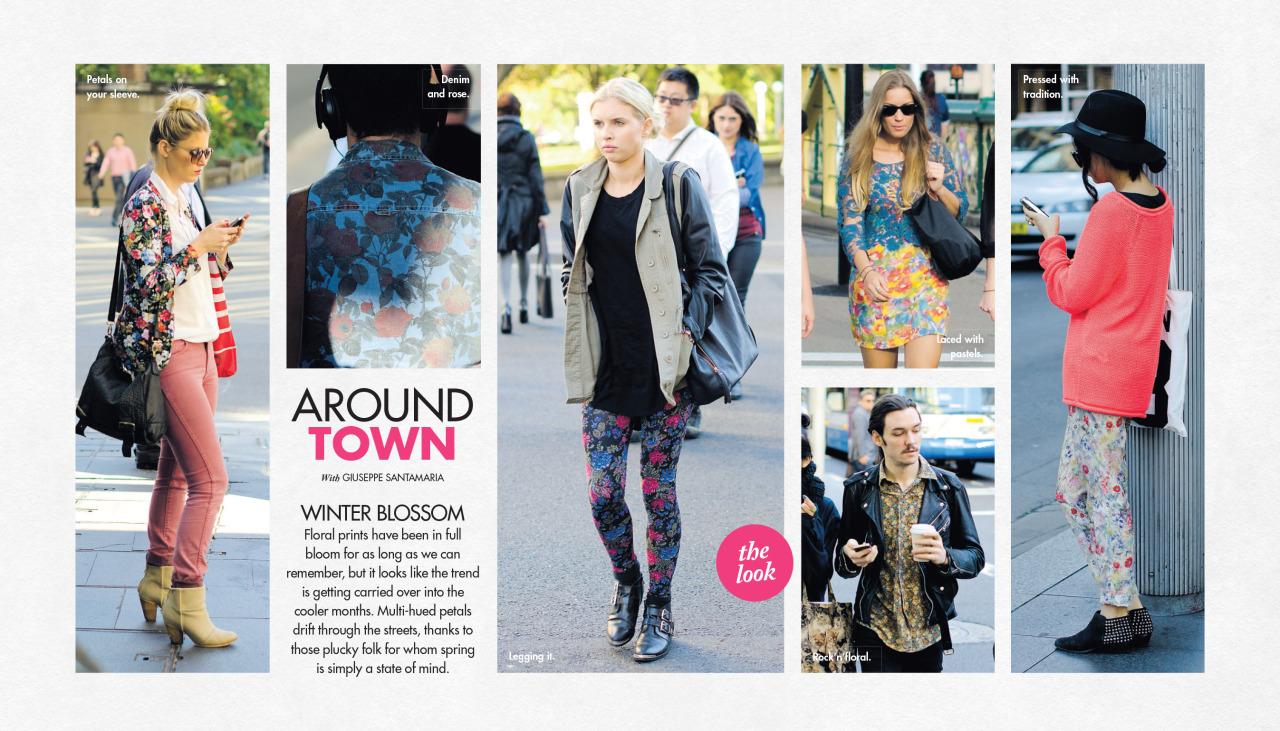 Florals in winter,   Around Town   in The Sun-Herald's  Sunday Life Magazine .
