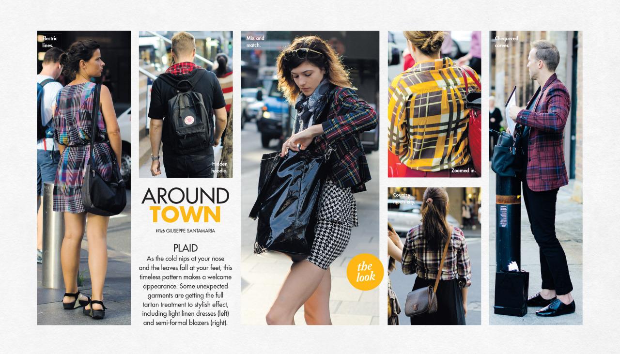 Plaid   Around Town   this past Sunday in The Sun-Herald's  Sunday Life Magazine .