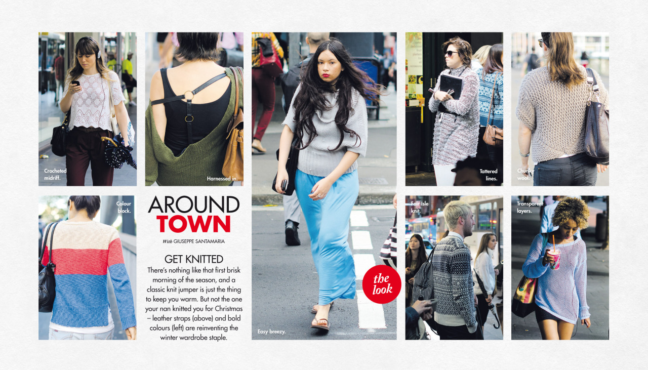 Knits   Around Town   this past Sunday in The Sun-Herald's  Sunday Life Magazine .