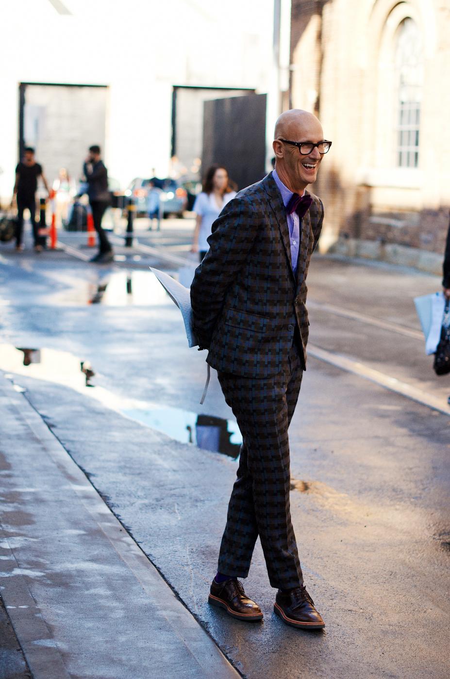Patterned suit.