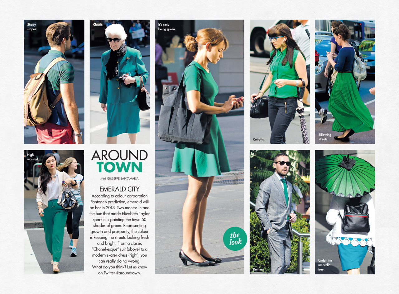 Emerald   Around Town   in this Sunday's  Sunday Life Magazine  in The Sun-Herald.