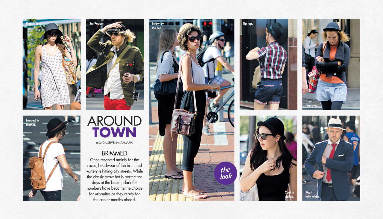 Brimmed   Around Town   in this past Sunday's  Sunday Life Magazine  in The Sun-Herald.