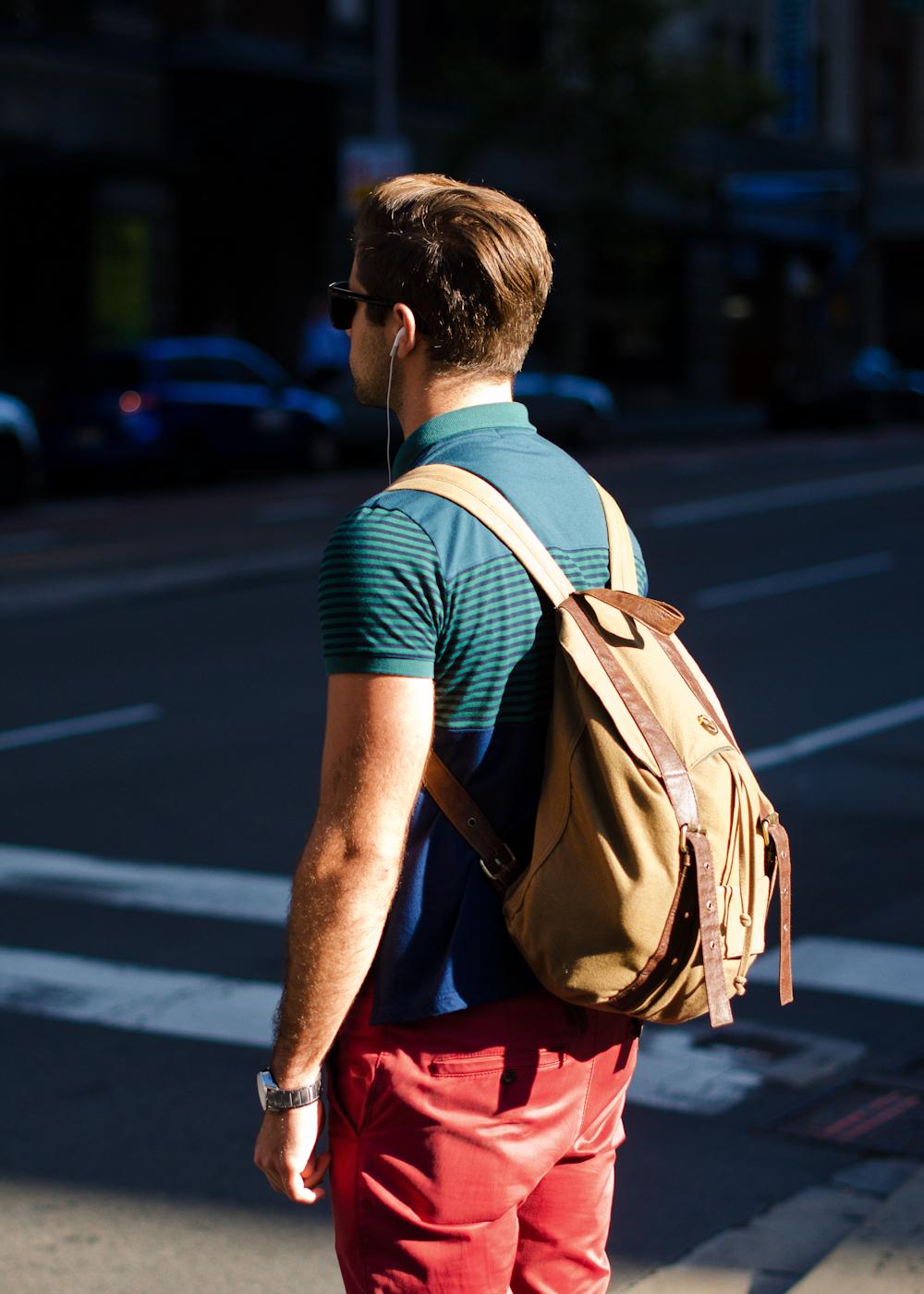 Colour.   Similar look:  Sandqvist Bob Backpack  .
