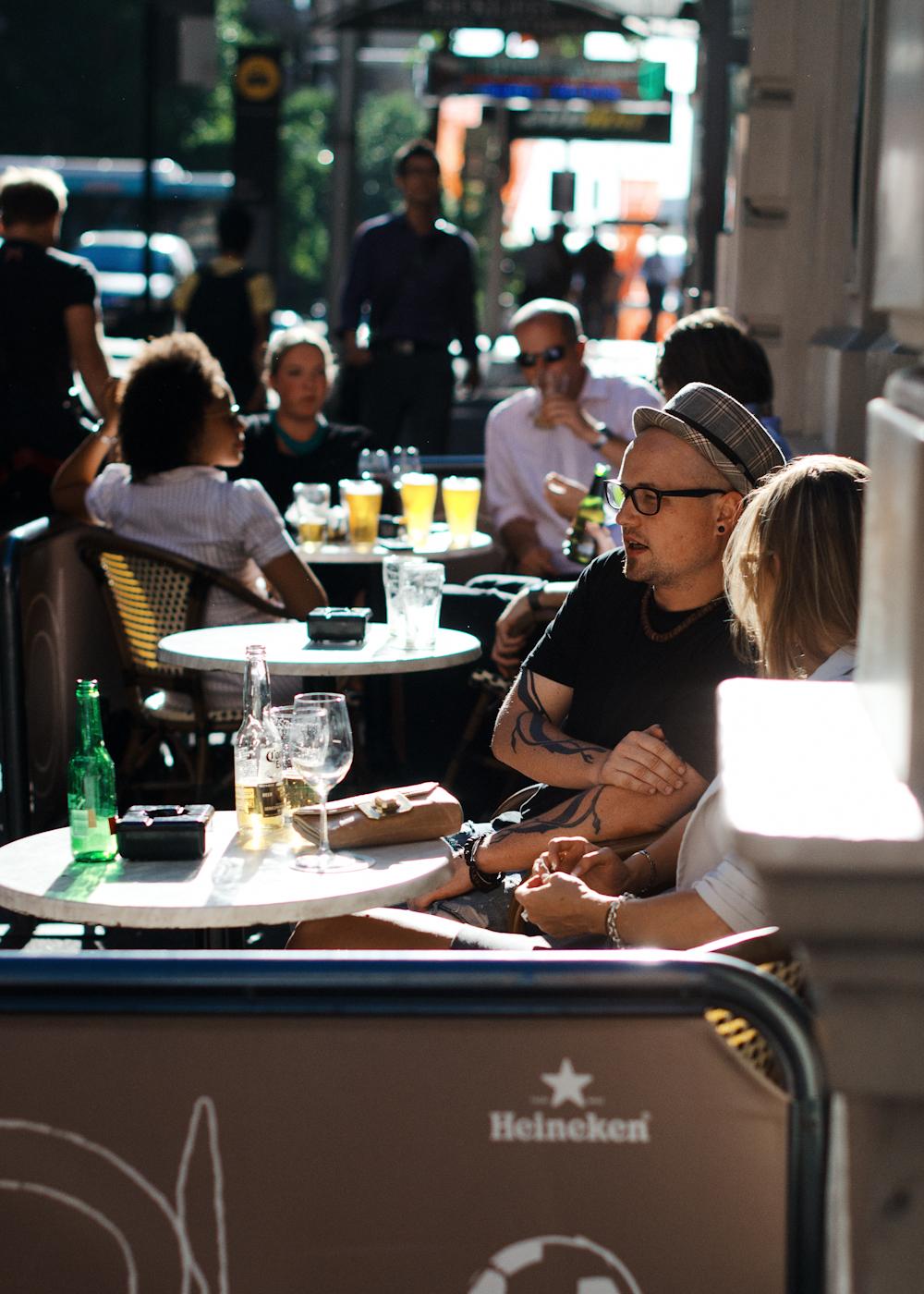 A little something for the northern hemisphere visitors.    Summer in Sydney, afternoon drinks.   Similar look:  Rag & Bone Gingham Band Porkpie Hat  .