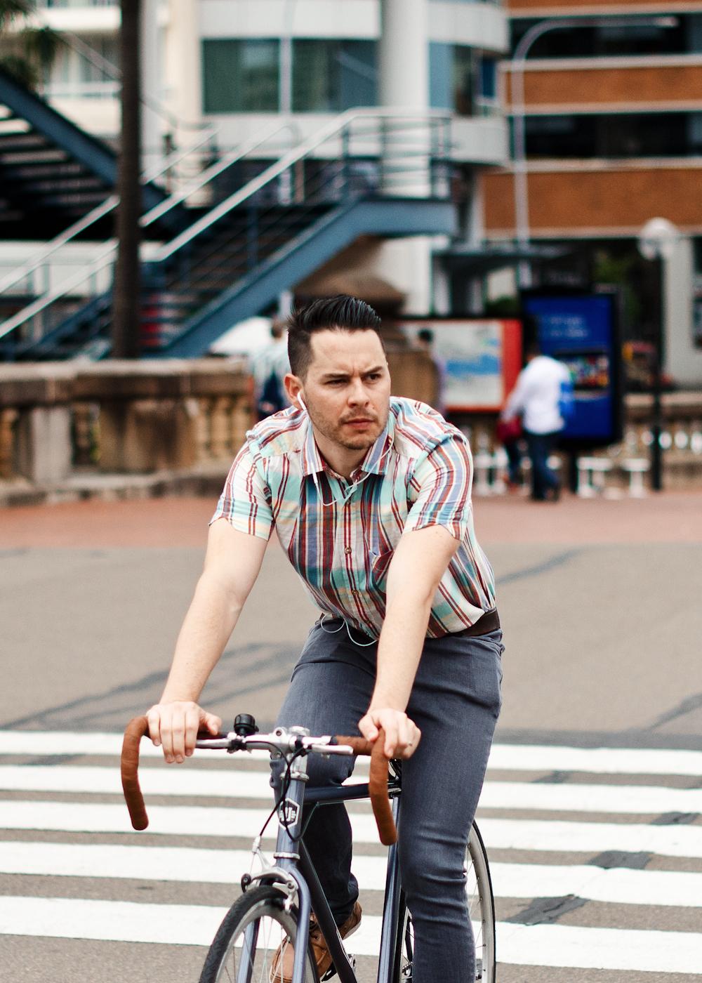 Modern cycle.   Similar look:   ASOS Oxford Stripe Shirt  .