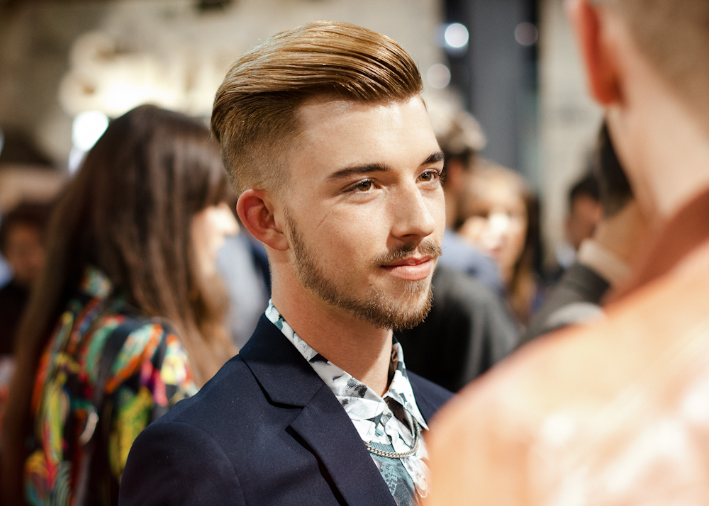 Top man.   At the opening of Topshop/Topman in Sydney.