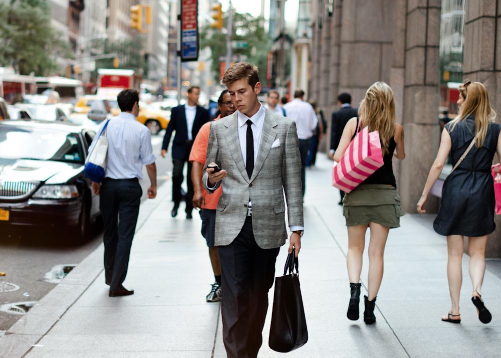 Old soul.   Similar look:   Paul SmithAbbey Slim-Fit Check Wool Blazer  .