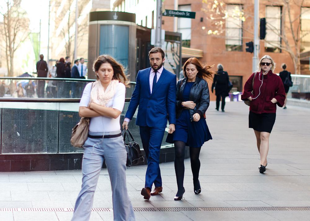 Ladies man.   Similar look:  ASOS Slim Fit Suit Jacket in Blue Herringbone Italian Fabric  .