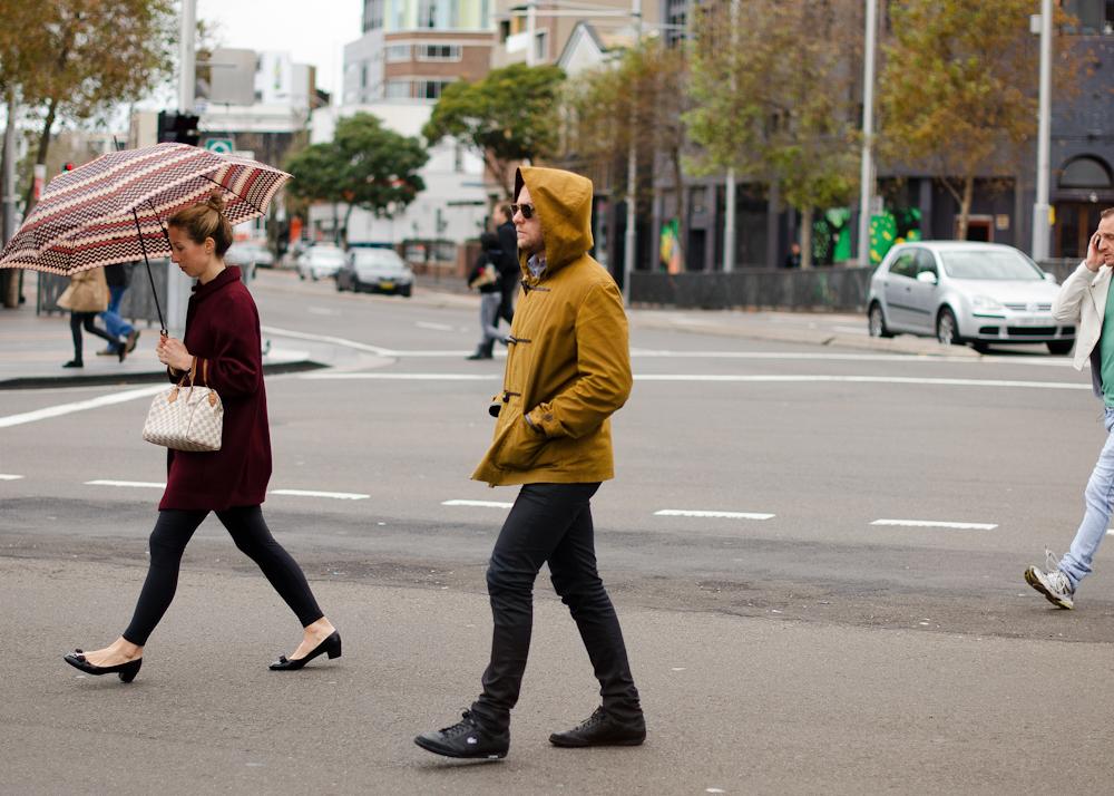 Winter duffle.   Similar look:  YMC Waxed Cotton Duffle With Shawl Collar And Detachable Hood  .