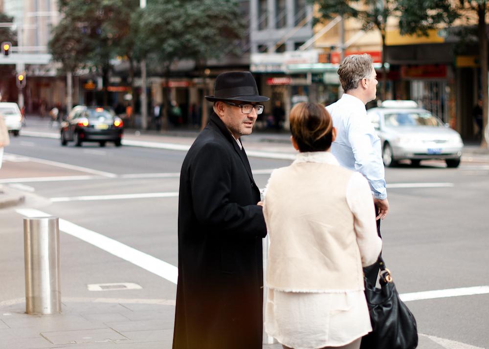 Class in black.   Similar look:  Rag & Bone Center Dent Fedora  .