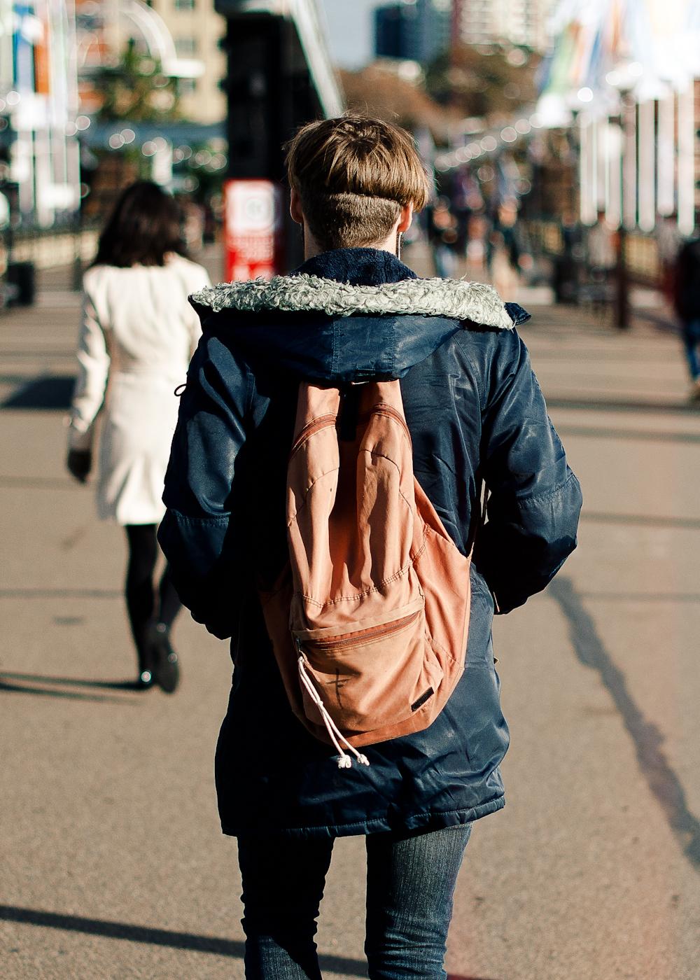 Crossing Pyrmont.   Similar look:  Eastpak Pak'R Backpack  .