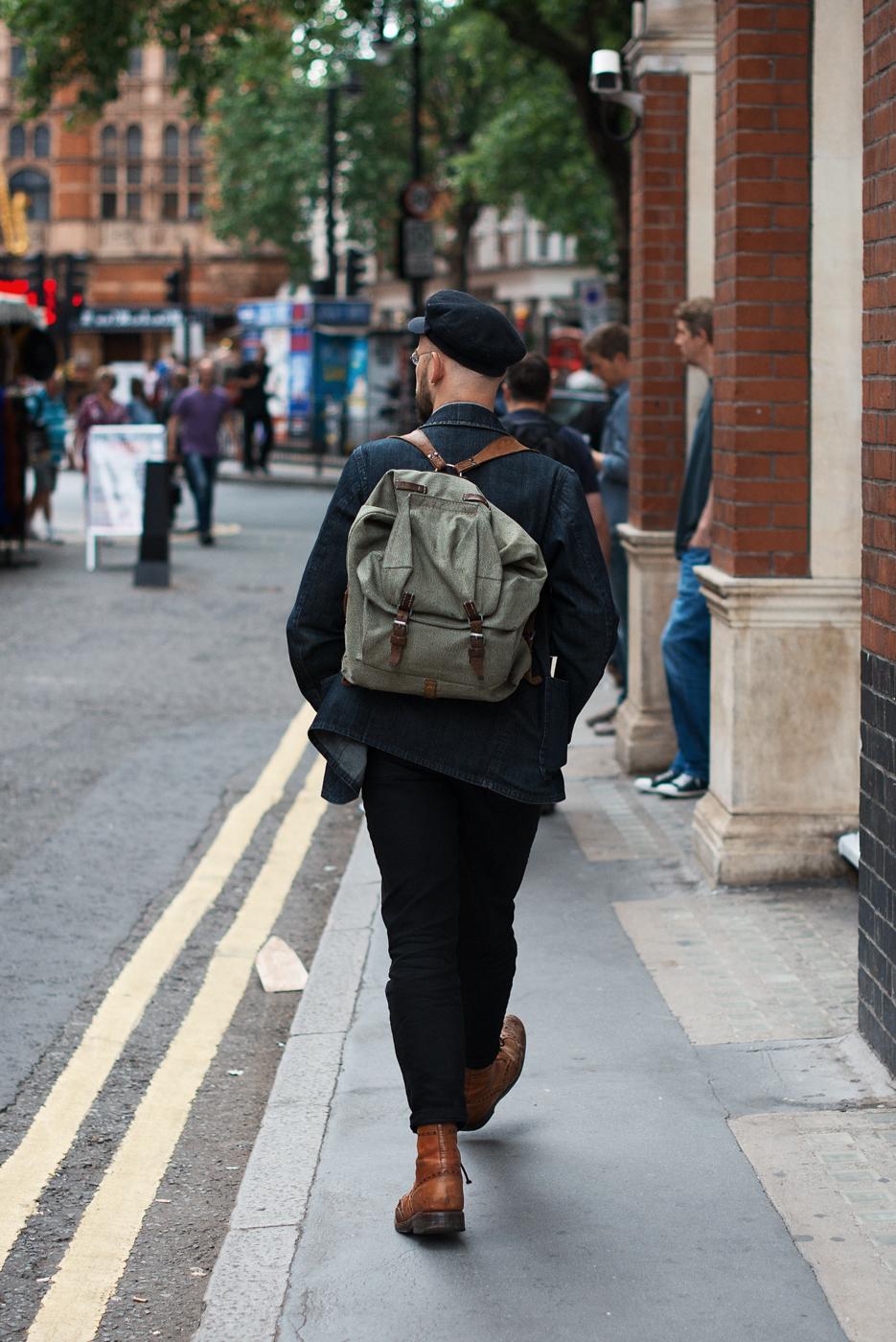 Backpack straps.