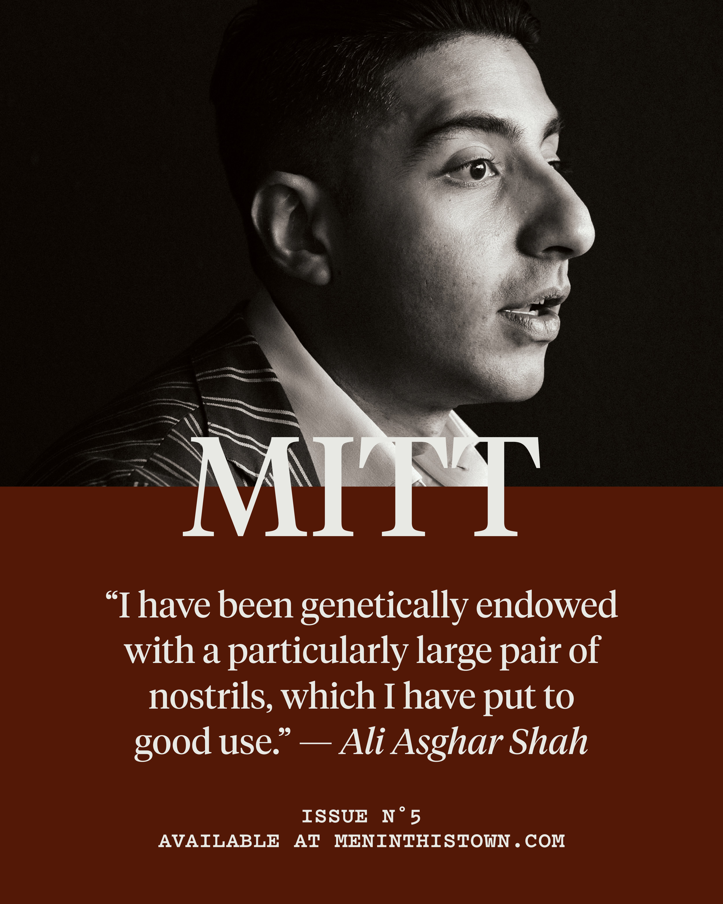 MITT   magazine contributor  Ali Asghar Shah  will be joining our   MITT Studio Talks   next week, celebrating the launch of issue five, which is now available to pre-order at   The MITT Mrkt  .