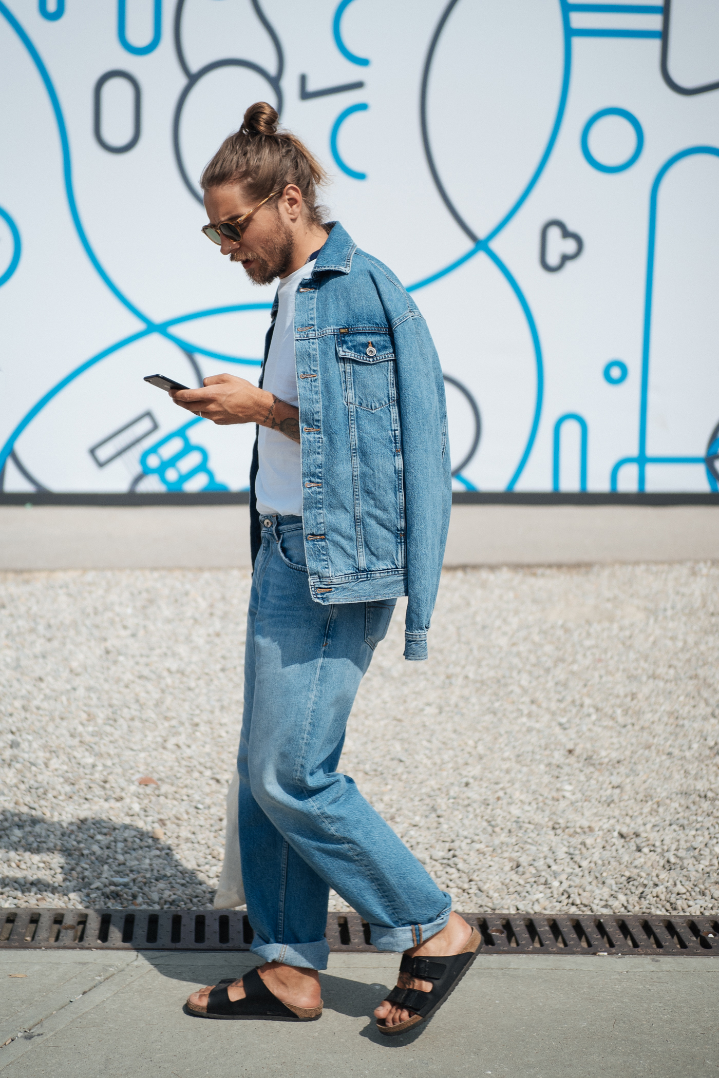 Canadian tux at Pitti Uomo, captured on my  OM-D E-M1 Mark II.
