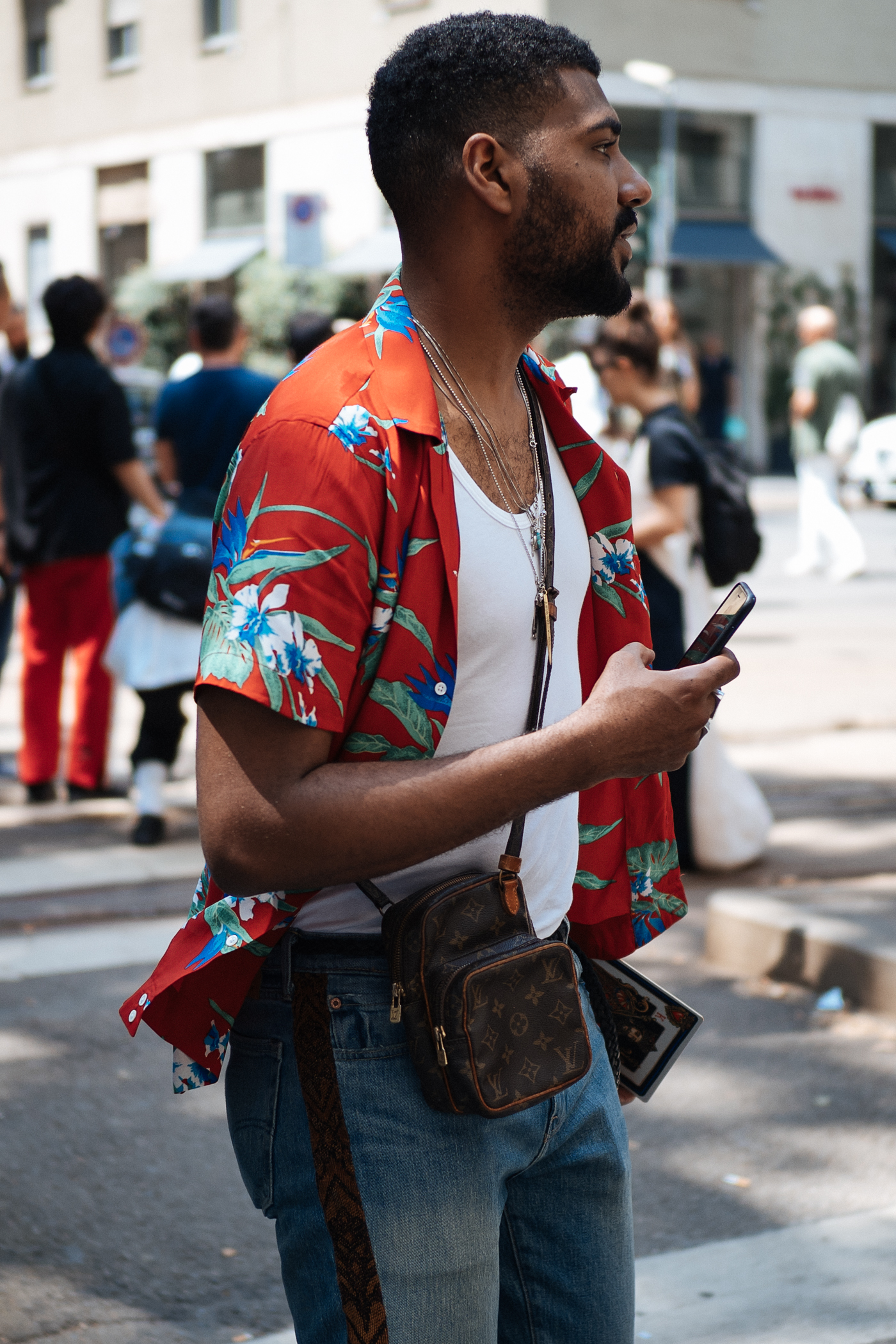 Summer daze at Milano Moda Uomo, captured on my  OM-D E-M1 Mark II.