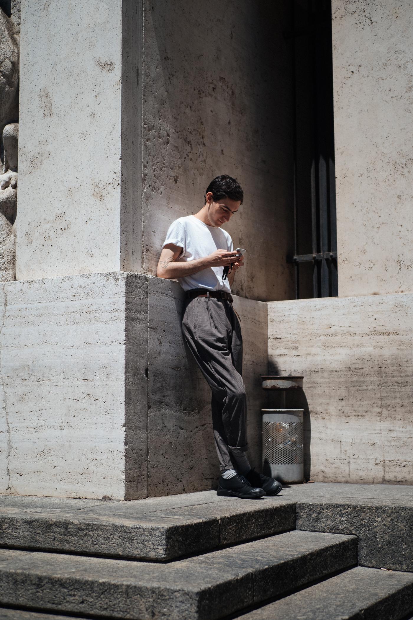Steps at Milano Moda Uomo, captured on my  OM-D E-M1 Mark II.