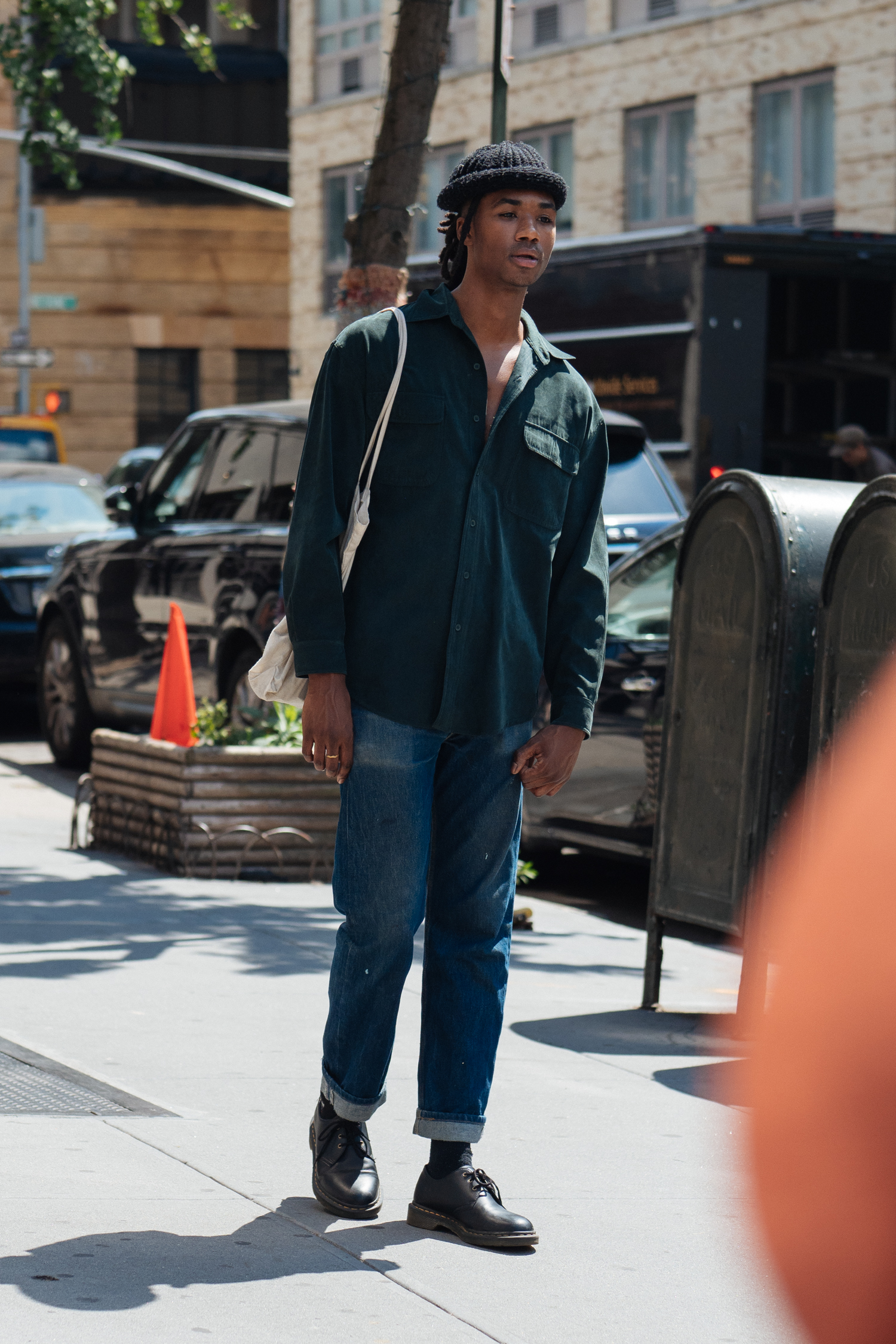 Beanie at  New York Fashion Week: Men's . Captured on my  Olympus OM-D E-M1 II with a  M.ZUIKO PRO 45mm F1.2 lens.