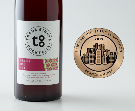 Bronze Medal, 2019 NY International Spirits Competition - Hibiscus Lime +Gin