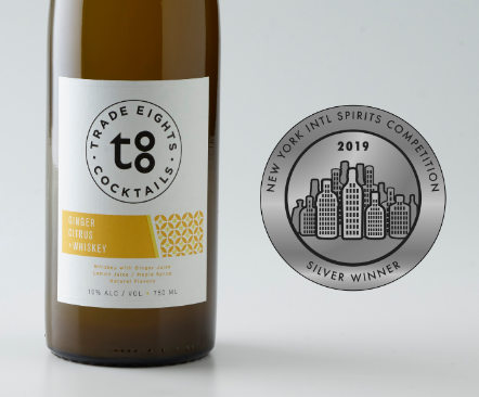 Silver Medal, 2019 NY International Spirits Competition - Ginger Citrus +Whiskey
