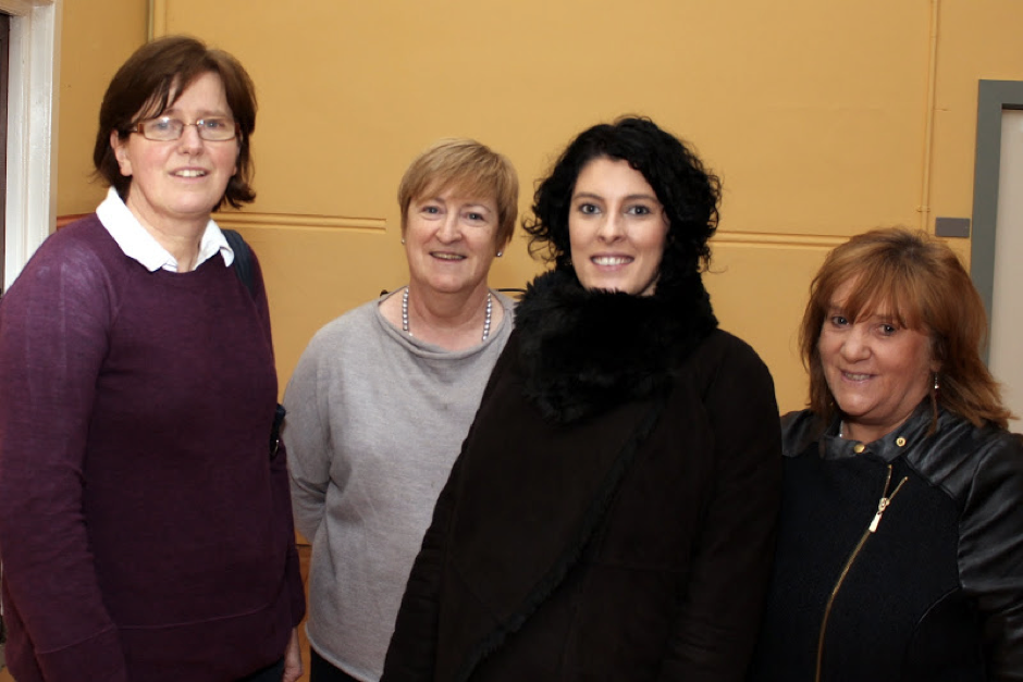 Pictured are CPC teacher Margaret Kenny, who organised the talks; College Principal Catherine Moynihan; Dr Maureen Griffin; and Joan Murphy of the CPC Parents Association.