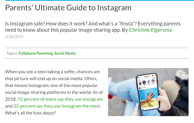 Common Sense Media: Instagram Guide — MGMS Training Limited
