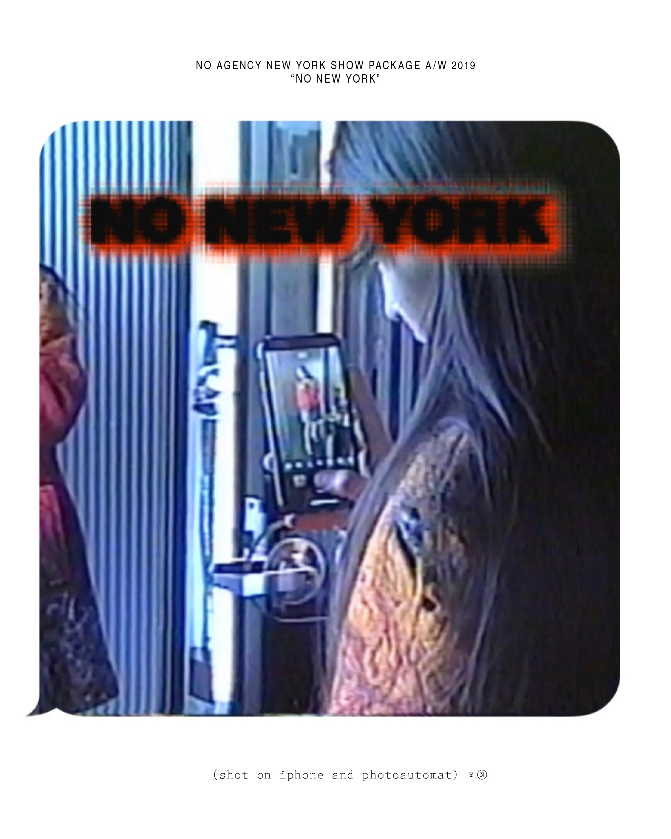 No Agency New York Show Package AW 2019 PT 1 Cover.jpg