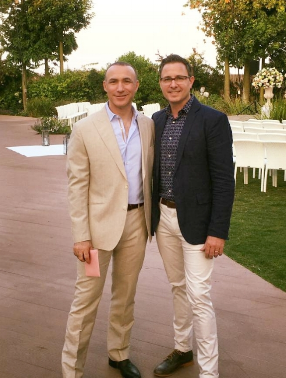 Jonathan and Kevin celebrating a family wedding
