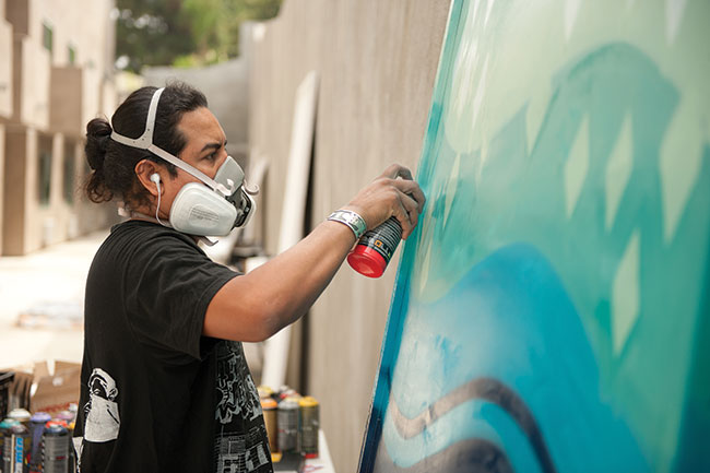 Duce Painting in Universal City