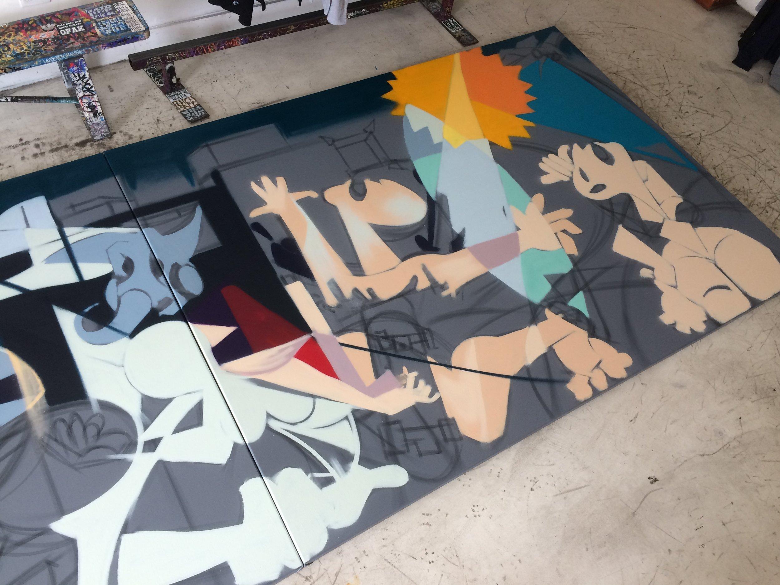 Duce paints his version of Guerni