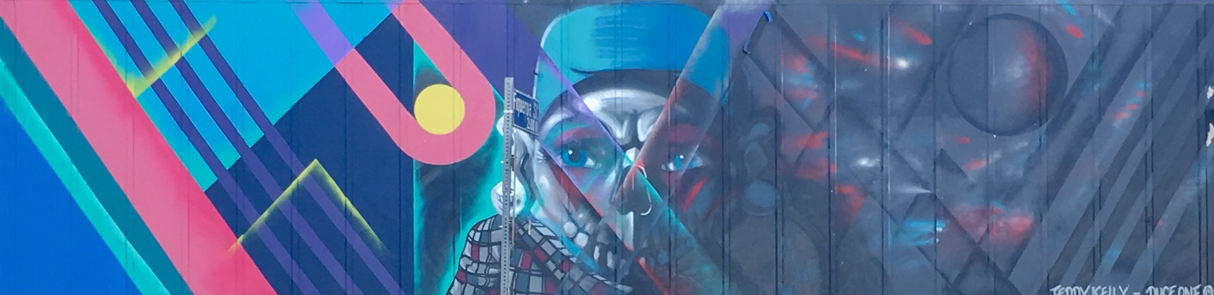 Collaboration with: Teddy Kelly  Spray paint on wall