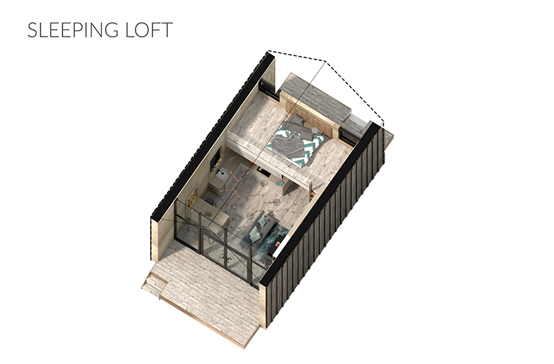 Image 7: Loft layout example of 16' tall structure