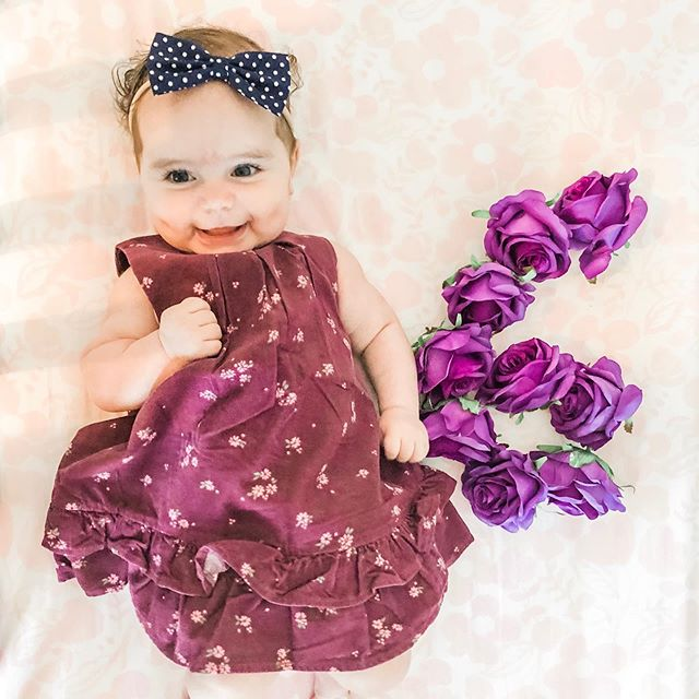 Happy HALF BIRTHDAY to this incredible girl of ours! 🎉🎉🎉 Six months of baby Violet as of yesterday. We are the absolute luckiest. We love every little inch of you, to the moon and back infinity times. 💜