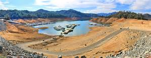 Lake Shasta in drought